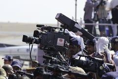 Cameraman de la TV Fotografía de archivo