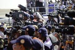 Cameraman de la TV Fotos de archivo libres de regalías