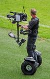 Cameraman de los deportes en el Twickenham Stadium Foto de archivo libre de regalías
