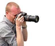 Cameraman de photographe photos stock