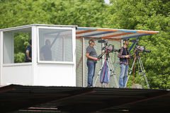 Cameraman de télévision images stock