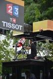Cameraman de Tour de France images libres de droits