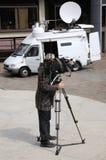Cameraman de TV Image libre de droits