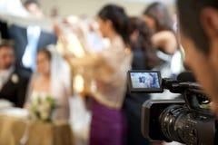 Cameraman en huwelijk Royalty-vrije Stock Fotografie