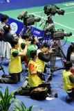 Cameraman en la acción Imagen de archivo