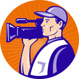 Cameraman film crew camera Stock Photography