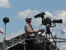 Cameraman filming Stock Image