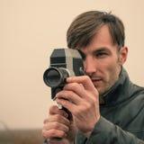Cameraman makes filming Royalty Free Stock Images
