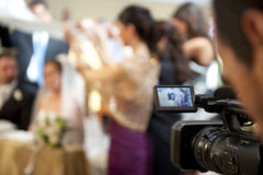 Cameraman and marriage Royalty Free Stock Photography