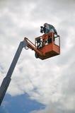 Cameraman op het werk Stock Afbeelding