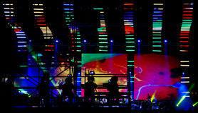 Cameraman in a rock concert Stock Image