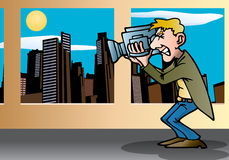 Cameraman on scene Stock Photography