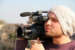 Cameraman Shooting Royalty Free Stock Images