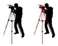 Cameraman silhouette Royalty Free Stock Photos