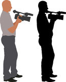 Cameraman. Silhouette of cameraman - vector illustration Royalty Free Stock Images