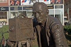 Cameraman, Sombor, Serbia. Cameraman statue in Sombor, Serbia royalty free stock photo