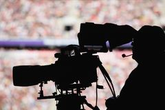 Cameraman stadium Royalty Free Stock Images