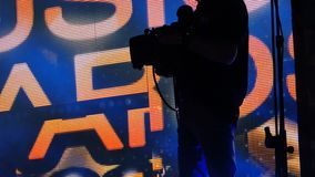 Cameraman on Stage stock footage