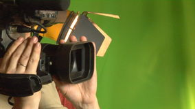 Cameraman in studio stock footage