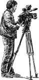 Cameraman stock illustration