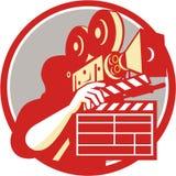 Cameraman Vintage Film Movie Camera Clapboard Retro Stock Images