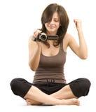 Cameraman  is winner Stock Image