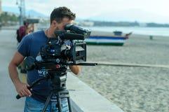 Free Cameraman With Digital Cinema Camera Stock Photos - 175385373