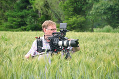Cameraman at work Stock Photo