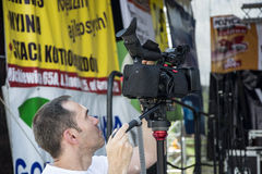 Cameraman at work Royalty Free Stock Photos