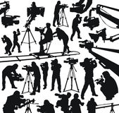Cameramen and camcorders Royalty Free Stock Photography