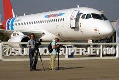Cameramen at MAKS International Aerospace Salon Stock Image