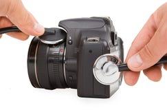 Camerareparatie met stethoscoop Royalty-vrije Stock Afbeeldingen