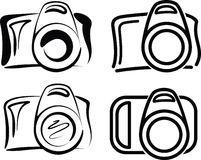 Cameras. Set of camera icons llustration Royalty Free Stock Images