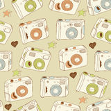 Cameras background Stock Photography