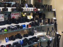Cameras and binoculars in Florence Royalty Free Stock Photo