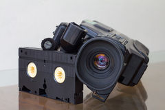 Cameras with cassette VHS. Stock Photos