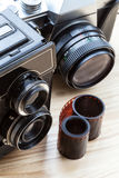 Cameras closeup Stock Photography