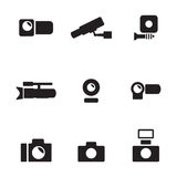 Cameras icons Royalty Free Stock Image