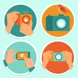 Cameras and mobile photography Royalty Free Stock Photos