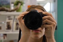 Cameras & Optics, Camera, Single Lens Reflex Camera, Camera Lens Stock Photography