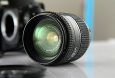 Cameras & Optics, Lens, Camera Lens, Single Lens Reflex Camera Stock Photos