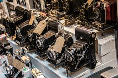 Cameras for Sale royalty free stock images