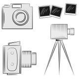 Cameras. A set of cameras Stock Image