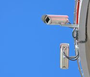Cameras in the sky Royalty Free Stock Images