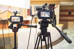 Free Cameras To Take Live Video Streaming At Event Royalty Free Stock Photography - 200064327