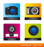 Cameras vector Stock Photos