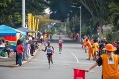 Camerati Marathon Downhill Immagini Stock