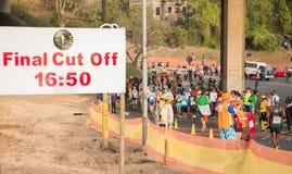 Camerati Marathon Final hanno tagliato Fotografia Stock Libera da Diritti
