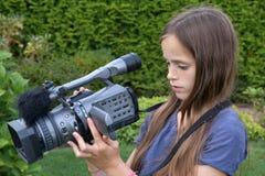 camerawoman fotografie stock