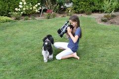 camerawoman royalty-vrije stock afbeelding
